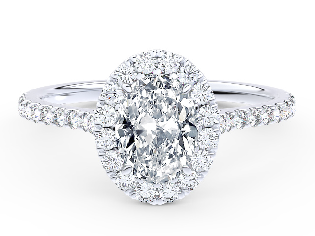 Franci Oval Halo Engagement Ring